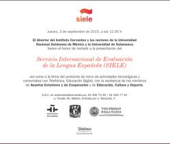 Invitados por el Instituto Cervantes a la firma del protocolo del SIELE