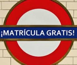 ¡SEPTIEMBRE LOCO! Matrícula gratis curso 17-18